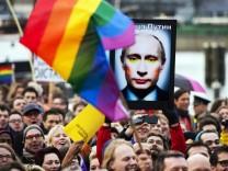 Demonstration against Putin