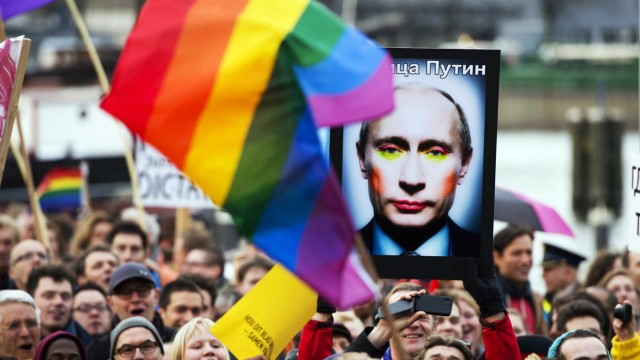 Demonstration against Putin
