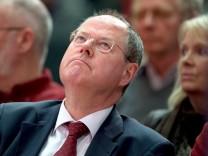 SPD-Kanzlerkandidat Peer Steinbrück stellte einen neuen Slogan vor