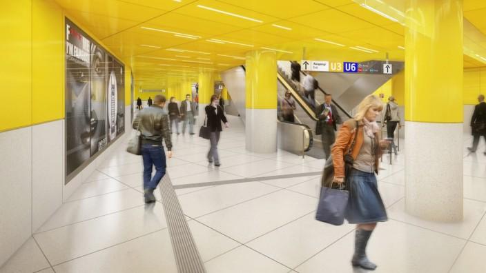 Die untere Ebene soll in Gelb erstrahlen.