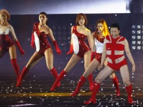South Korean rapper Psy performs during his concert 'Happening' in Seoul