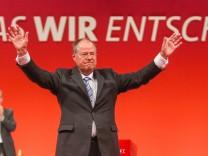 SPD Bundesparteitag Augsburg Peer Steinbrück, SPD