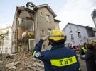 Hausfassade in Darmstadt eingestürzt