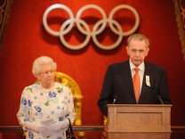 Queen Elizabeth II Hosts A Reception For Members Of The International Olympic Committee