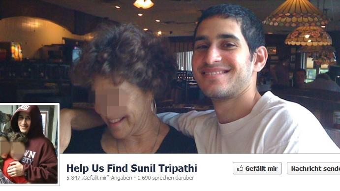 Sunil Tripathi, Boston Anschlag