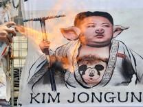 Karikatur von Kim Jong Un
