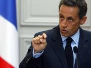 Frankreichs Staatspräsident Nicolas Sarkozy, Banker-Boni, AP