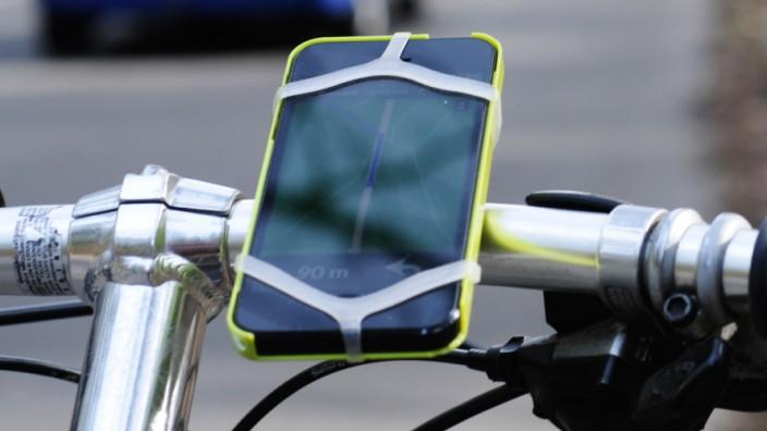 Fahrrad, Navi, Navigationssystem, Radl, Bike, App, Fahrradnavigation