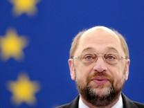Präsident des Europäischen Parlaments, Martin Schulz, fordert Wachstumsperspektiven in Europa und ein Ende des Spardiktats