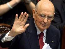 Italiens Präsident Giorgio Napolitano will schnell eine Regierung bilden