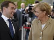 Deutschland Russland Dimitrij Medwedjew Kanzlerin Angela Merkel Schleißheim, AP