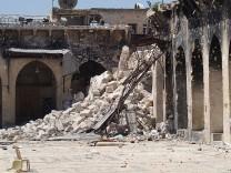 Minarett der Omaijaden-Moschee in Aleppo
