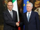 Premierminister Enrico Letta mit Amtsvorgänger Mario Monti