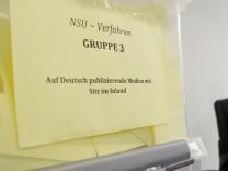 NSU-Prozess - Pressekonferenz zur Vergabe der Presseplätze