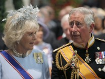 Britain's Prince Charles and his wife Camilla, Duchess of Cornwall, attend a religious ceremony at the Nieuwe Kerk church in Amsterdam