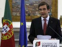 Portugals Premierminister Passos Coelho  kündigt Sparprogramm an