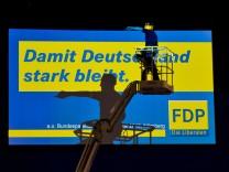 FDP-Bundesparteitag im Aufbau