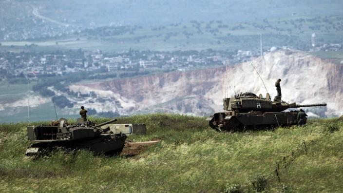 Israel Armee Syrien Grenze Soldaten