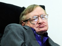 Sir Stephen Hawking makes a rare public appearance