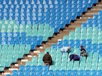 Leipziger Zentralstadion vor Eröffnung
