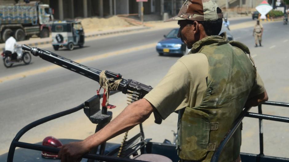 Soldat in Pakistan