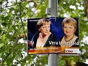 Maria Bähmer, CDU, Dekolleté-Plakat, AP