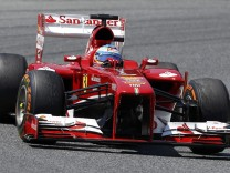 Ferrari Formula One driver Fernando Alonso of Spain drives his car during the Spanish F1 Grand Prix at the Circuit de Catalunya in Montmelo, near Barcelona
