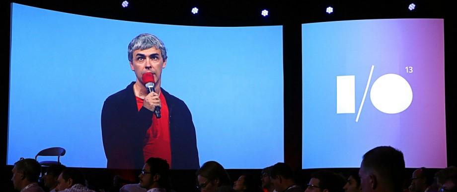 Google Chef Larry Page auf der Google Entwicklerkonferenz I/O