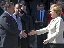 Merkel und Gabriel beim SPD-Jubiläum in Leipzig