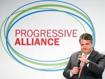 Sigmar Gabriel, SPD, Sozialistische Internationale, Progressive Allianz