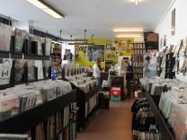"""Schallplattenladen """"Echt Optimal"""" in München, 2011"""