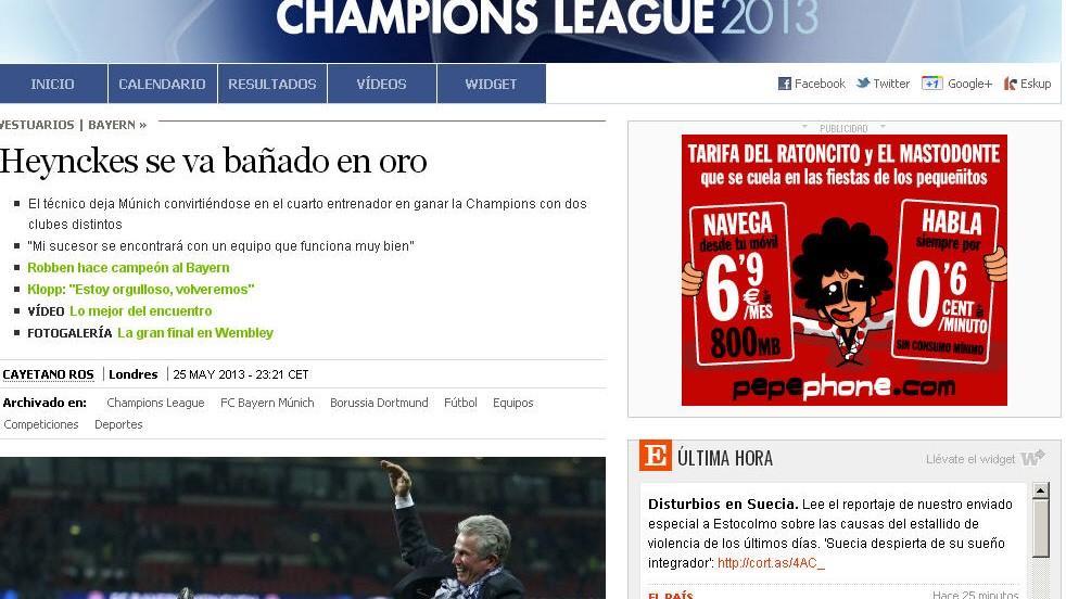 Pressestimmen zum Finale in Wembley - Bei den spanischen Zeitungen ...