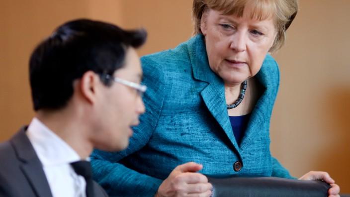 Merkel Rösler Schwarz-Gelb Bundeskabinett