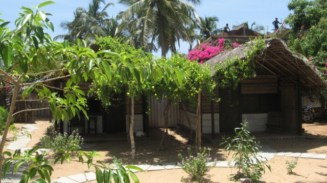 Hütte in Arugam Bay an Sri Lankas Ostküste