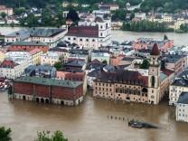 Hochwasser in Passau Donau