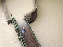 Überschwemmte Isar.