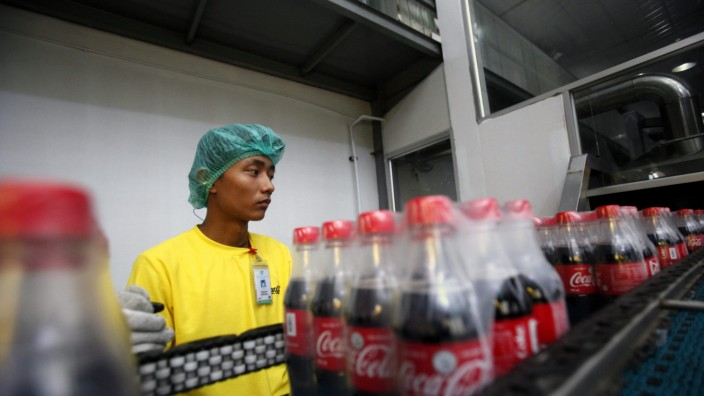 Coca-Cola opens a bottling plant in Myanmar