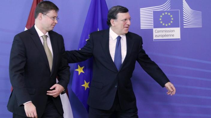 Valdis Dombrovskis und Jose Manuel Barroso im März 2013