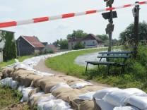 Hochwasser der Elbe in Brandenburg