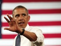 Der Präsident der USA, Barack Obama, baut die Überwachung im Internet aus und sammelt Daten
