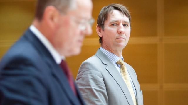 Michael Donnermeyer (r) und SPD-Kanzlerkandidat Peer Steinbrück