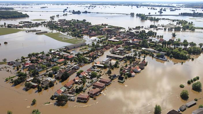 Hochwasser in Sachsen-Anhalt - Fischbeck