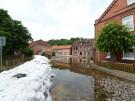 Wasser in der Altstadt von Lauenburg