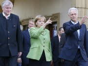 Seehofer, Merkel, Ramsauer, ddp