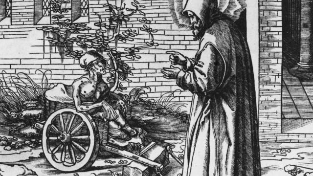 St.Vandrille und ein Leprakranker