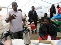 Afrikanische Flüchtlinge in Hamburg