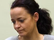 Beate Zschäpe vor dem Münchner Landgericht