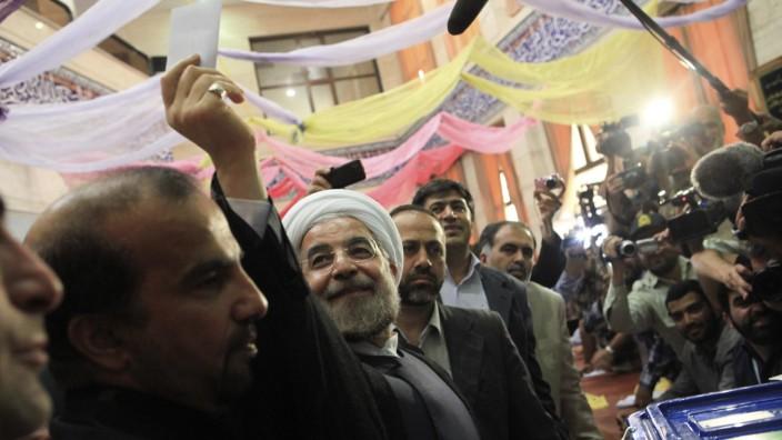 Hassan Rohani, Gewinner der Präsidentschaftswahl in Iran