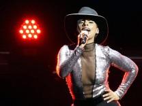 US singer Alicia Keys performs