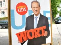 Wahlplakat von Christian Ude in München, 2013